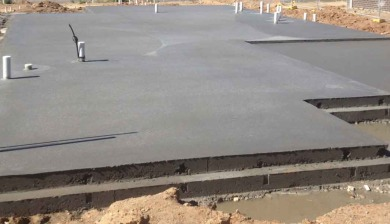 concrete house slab form work in Canberra