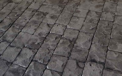 photo of a stamped concrete driveway in canberra