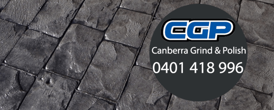 Photograph of a stamped concrete driveway project in Canberra ACT
